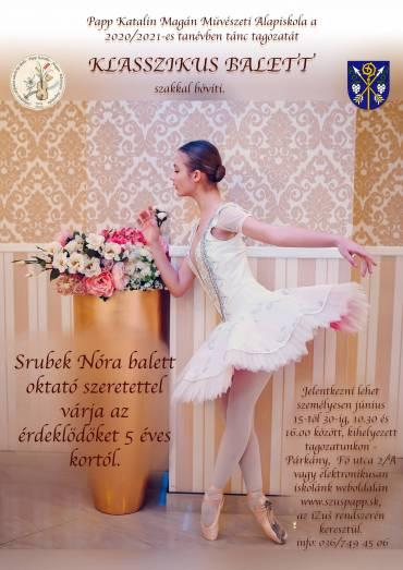 Klasszikus balett oktatás