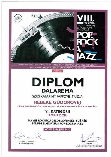 Celoslovenská súťaž Pop-Rock a Jazz 2017